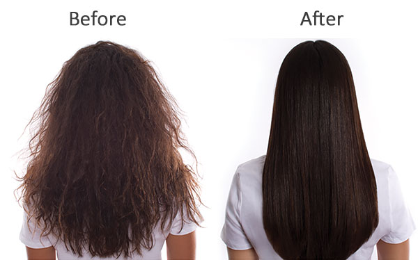 Brazilian Blowout Black To Red Hair Icon 1 Before After Brunette